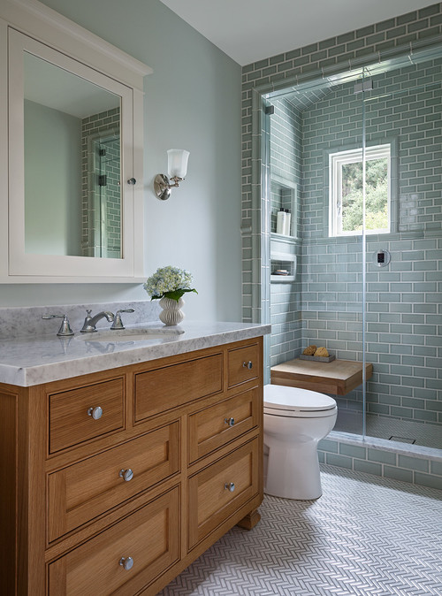 Modern Craftsman Bathroom