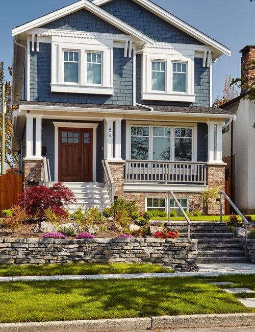 Blue Craftsman Style House