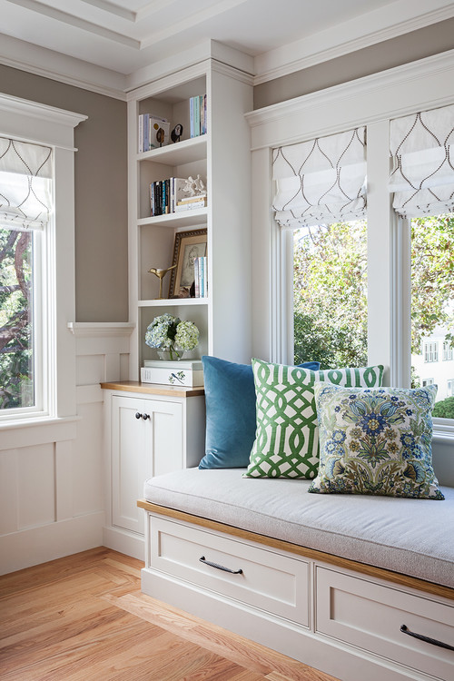 Modern Craftsman Window Seat