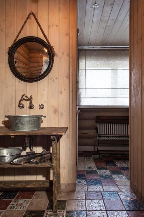 Rustic Log Cabin Bathroom