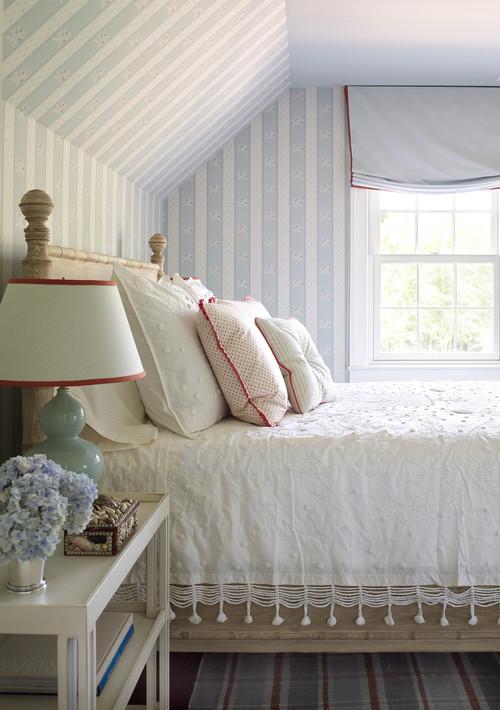 Farmhouse Bedroom in Pastels