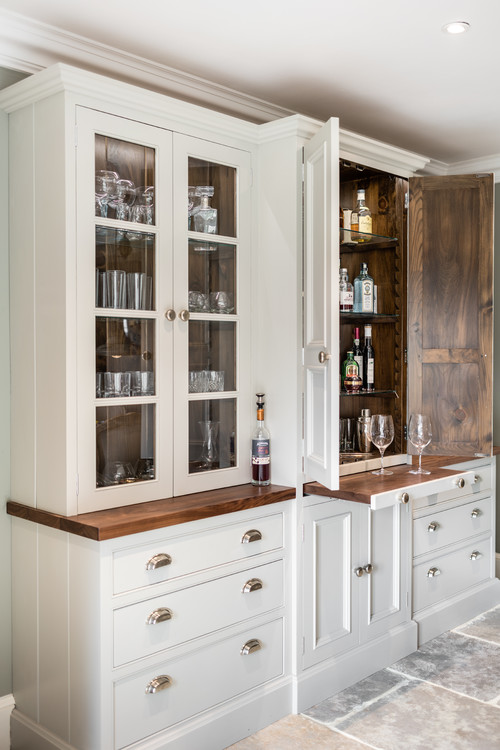 Farmhouse Style Built-In Kitchen Cabinet