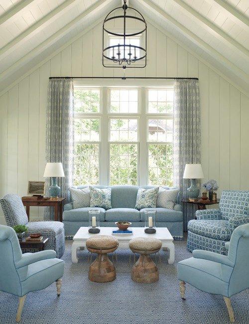 East Hampton Blue Living Room