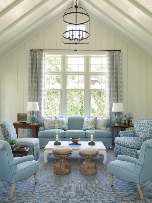 East Hampton Blue Living Room