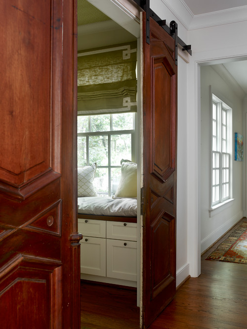 Country House Hallway with Sliding Doors