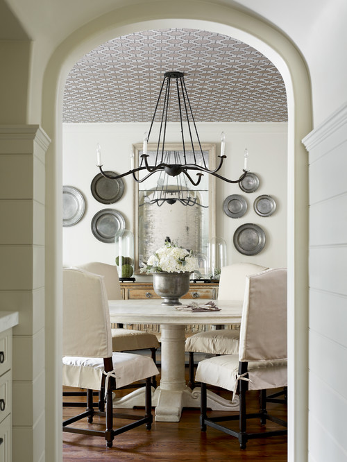 French Country Dining Room in Neutral Tones