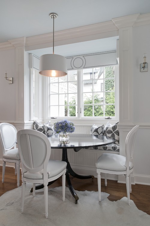White Dining Nook