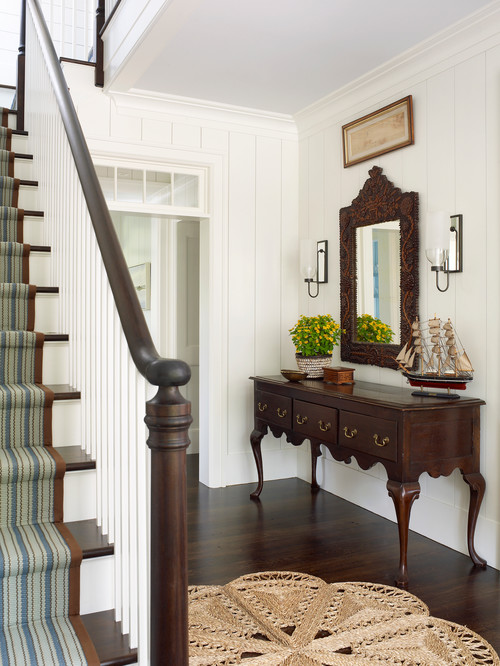 Entryway and Traditional Staircase