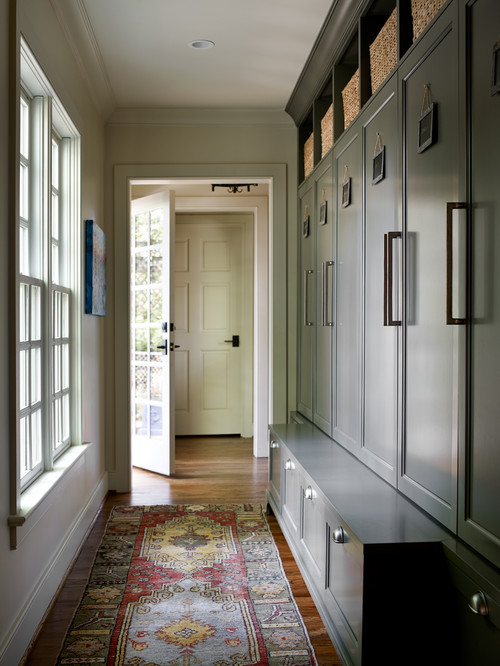 Country Home Hall and Entry with Oriental Rug