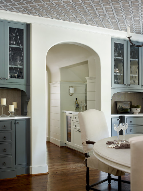 Dining Room with Built-In Cabinets