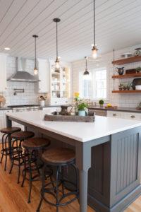 Fresh Farmhouse Kitchen in Gray and White