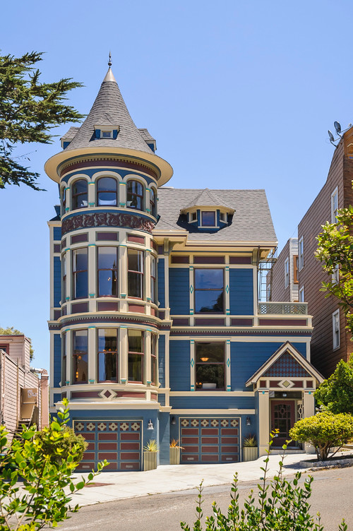 Blue Victorian House - Painted Lady