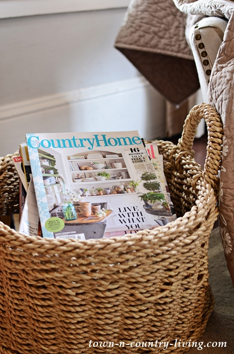 Country Basket of Decorating Magazines