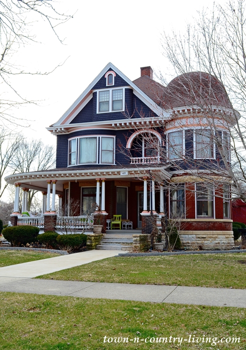 Blue Victorian Historic Home with Turret