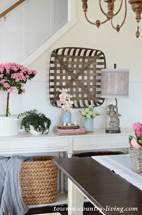 Farmhouse Vignette on a Console Table