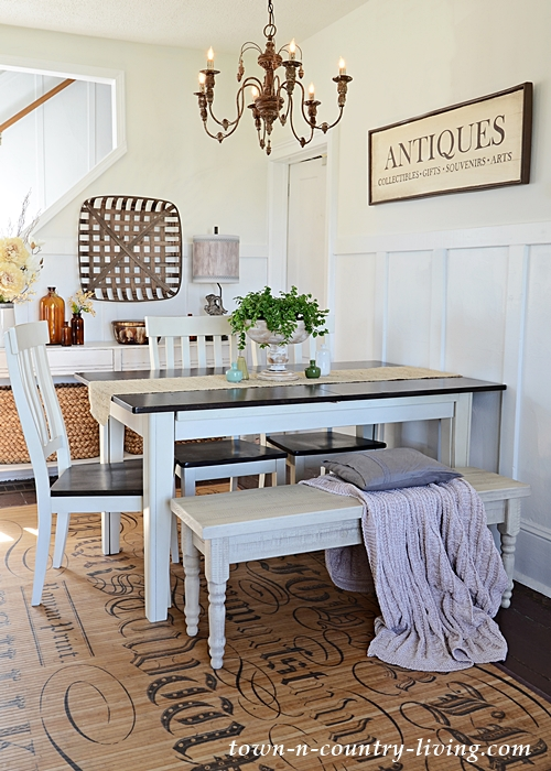 Farmhouse Dining Room Decorated in Country Style