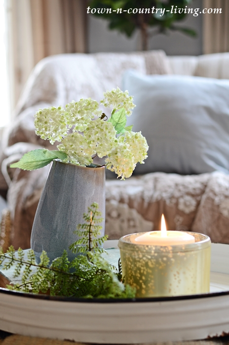 Cozy Time-Out Corner with Candle and Flowers