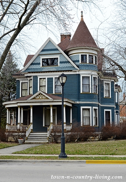 Beautiful Blue Victorian house with turret