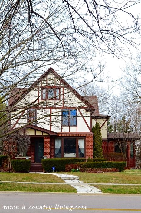 American Tudor Style Home in Aurora, Illinois