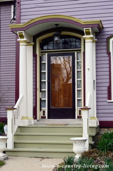 Front Door of Purple Historic Home