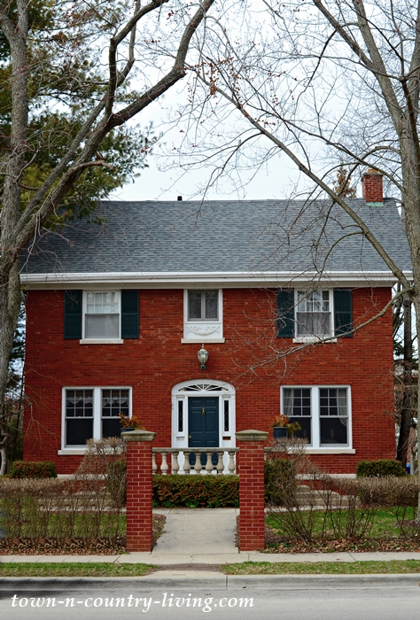Red Brick Traditional Exterior. Historic Homes in Aurora, IL