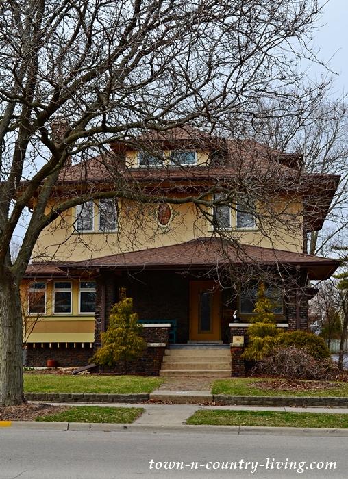 Historic Stucco Home in Aurora, Illinois