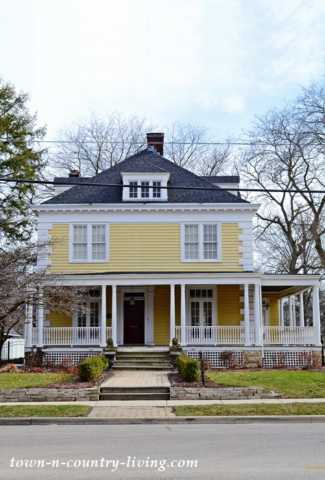 Historic Yellow Clapboard Home with Wraparound Porch