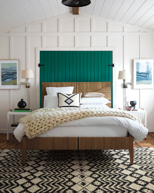 Modern Farmhouse Style Bedroom with Board and Batten