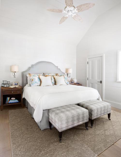 White and Gray Cottage Bedroom