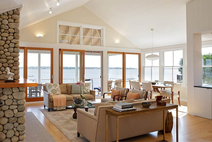 Waterfront Living Room in Rhode Island