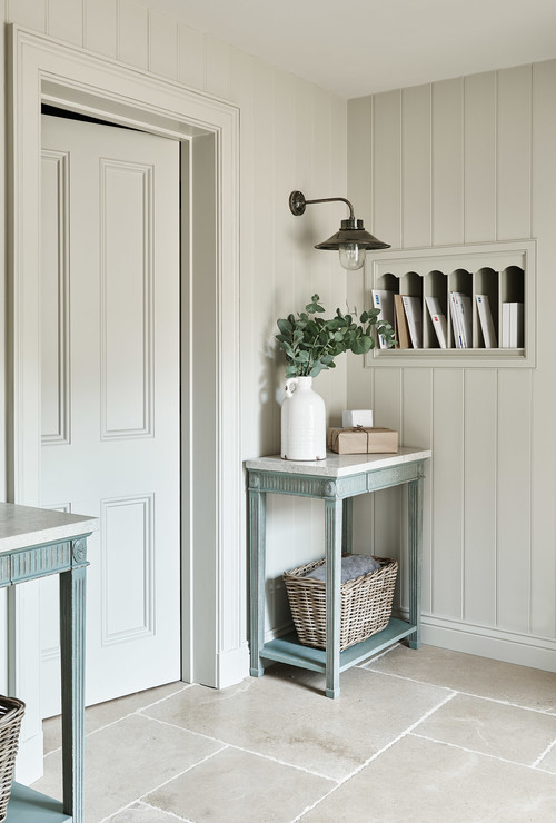 Country Style Entryway with Built-In Mail Cubbies