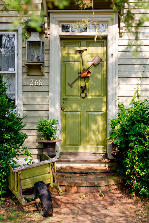 Pale Green Front Door
