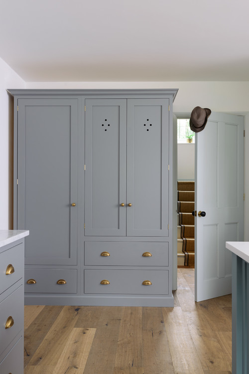 Gray Cabinet in Bespoke Kitchen