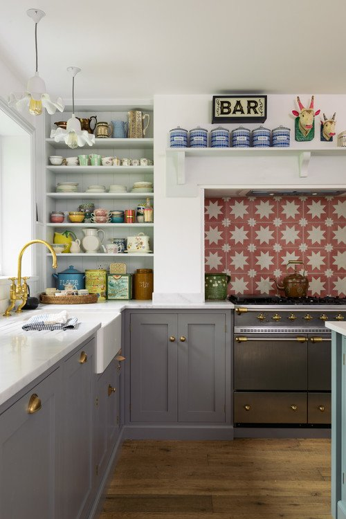 Add Color to a Farmhouse Kitchen