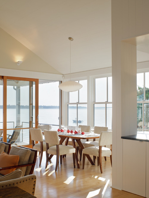 Dining Room in Modern Shingle Style Coastal Home