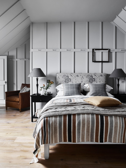 Cozy Master Bedrooms - Light Gray Scandinavian Style