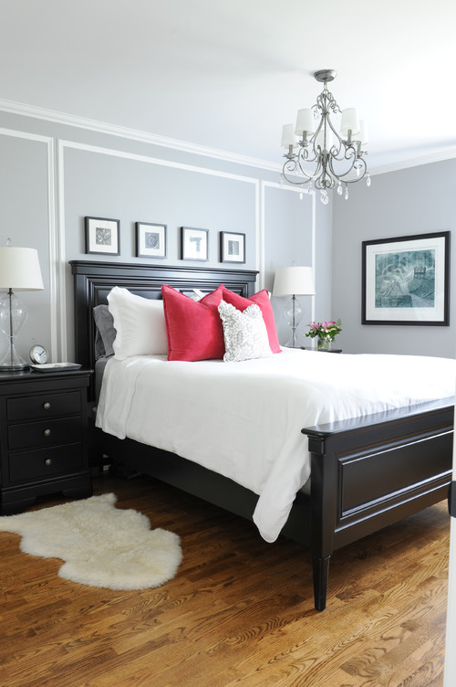 Light Gray Traditional Bedroom