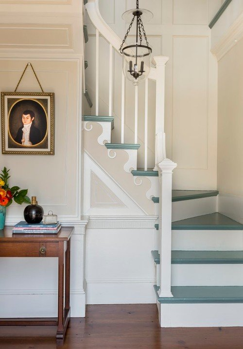 Country Style Painted Staircase
