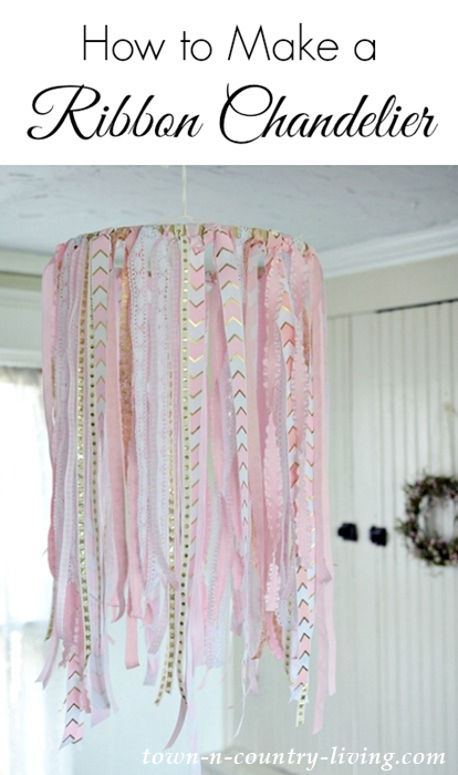 How to Make a Ribbon Chandelier