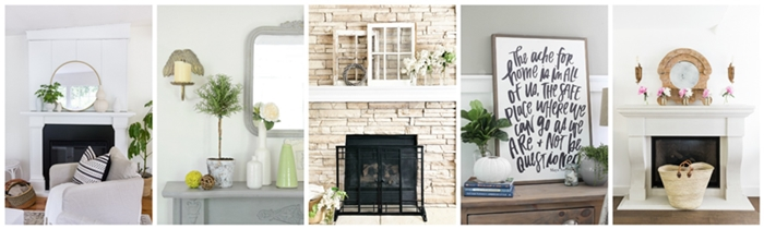 Seasonal Simplicity Summer Mantel