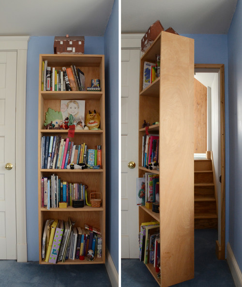 Bookcase with Hidden Secret Staircase