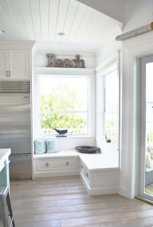 Corner Window Nook in Coastal Style Kitchen