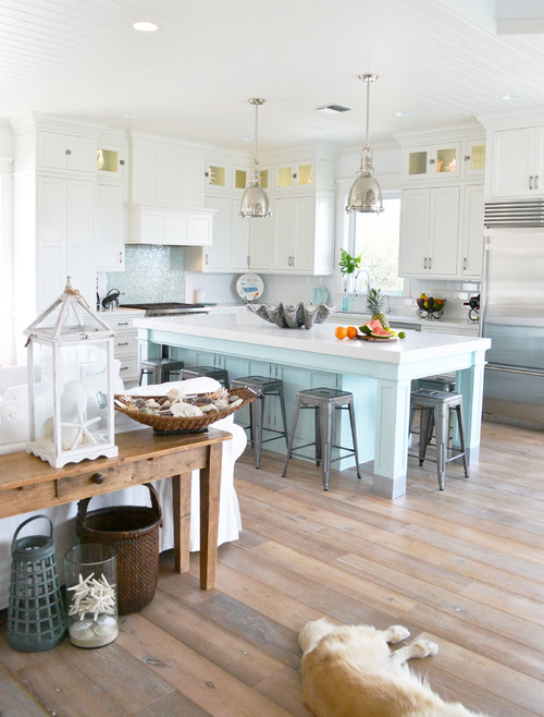Coastal Kitchen In Blue And White Town Amp Country Living