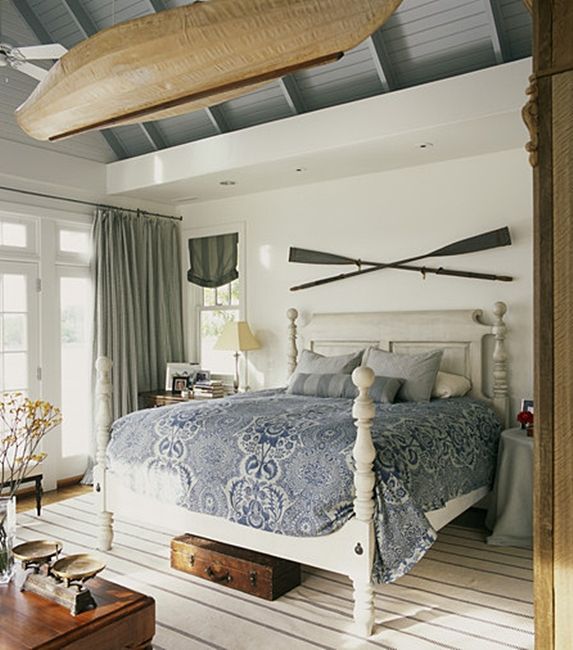 White and Gray Master Bedroom in Modern Farmhouse