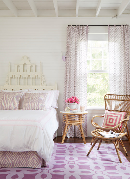 White and Lavender Summer Bedroom