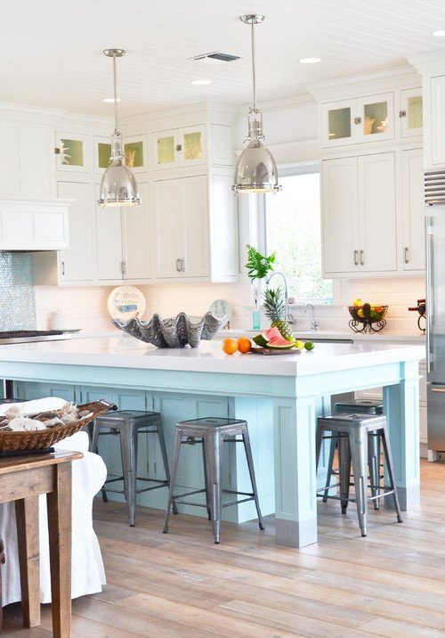 Coastal Kitchen in Blue and White
