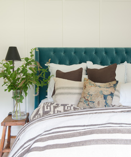 Simple Bedroom with Tufted Headboard