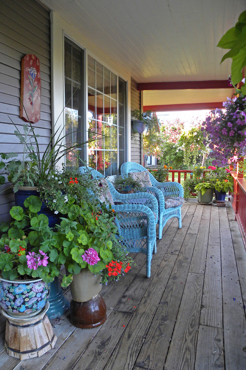 Farmhouse Porch in the Summertime