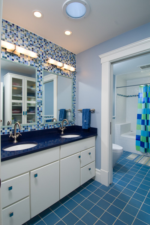 Blue And White Bathrooms Country: Colorful Bathroom Ideas: Go Bold