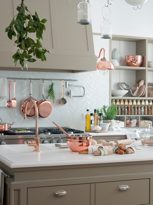 Most Beautiful Kitchen with Gorgeous Copper Cookware